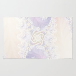 Beautiful Wedding Dress Fractal for the Princess of Pearls Rug