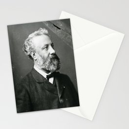 portrait of Jules Verne by Nadar Stationery Cards