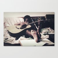 almost famous Canvas Prints featuring Almost famous by John Medbury (LAZY J Studios)