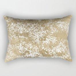 Elegant chic faux gold foil paint splatters pattern Rectangular Pillow