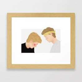 Skam, Isak and Even | Evak Illustration Framed Art Print