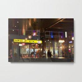Window reflection Granville St Vancouver Metal Print