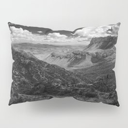Dramatic Cloudy Mountain View at Lost Mine Trail, Big Bend Pillow Sham