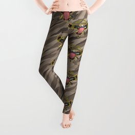 United States Armed Forces Military Veteran Eagle - Proudly Served Leggings