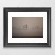 Two Hawks and a Morning Haze Framed Art Print