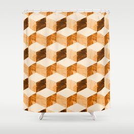 global mod cubic Shower Curtain
