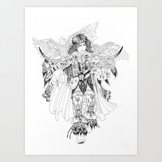 Eagle Hunter Art Print
