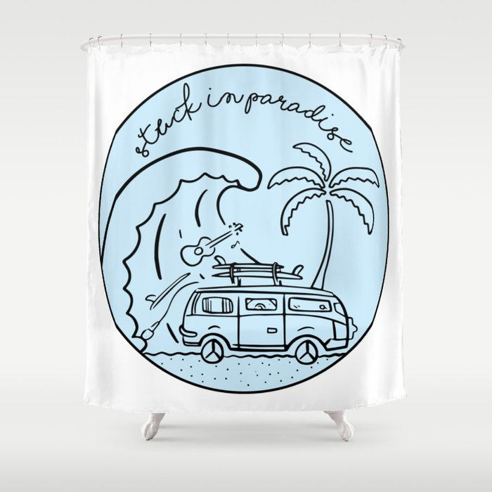 Stuck in Paradise Shower Curtain