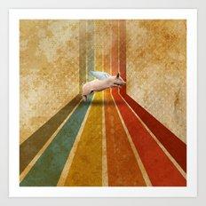 Porco volante  Art Print