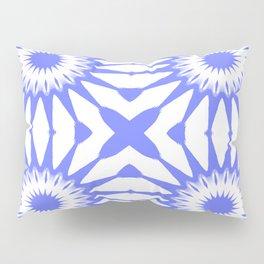Periwinkle Blue Pinwheel Flowers Pillow Sham