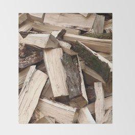 Firewood Throw Blanket