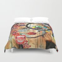 poker Duvet Covers featuring Poker Face by Katy Hirschfeld