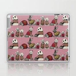 vintage chums pink Laptop & iPad Skin