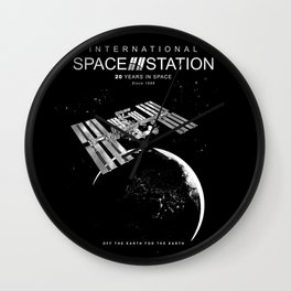 ISS-International Space Station/Space/Astronomy Wall Clock