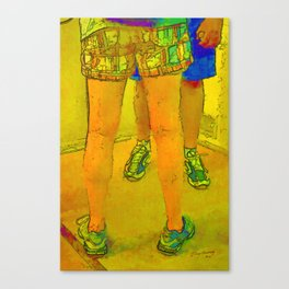 Standing Conversation Canvas Print