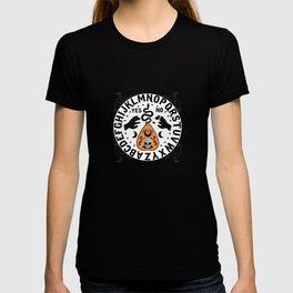 Orange And Black Modern Ouija Board With Ravens T-shirt