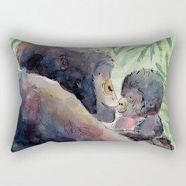 Gorilla and Baby Rectangular Pillow