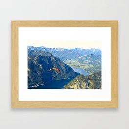 Paraglider above the Austrian Alps 2 Framed Art Print