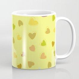 Love, Romance, Hearts - Yellow Green Brown Blue Coffee Mug
