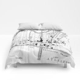 Vintage Map of Coney Island (1879) Comforters