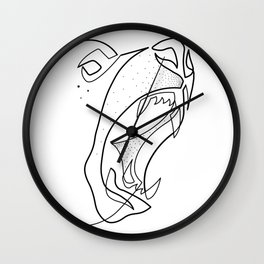 Bear Drawing in One Line Wall Clock