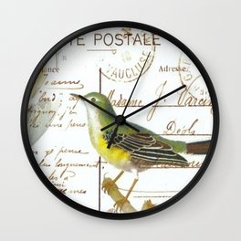 French bird Wall Clock