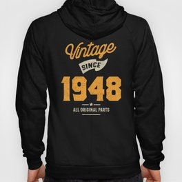 Vintage Since 1948 Birthday Gift Hoody