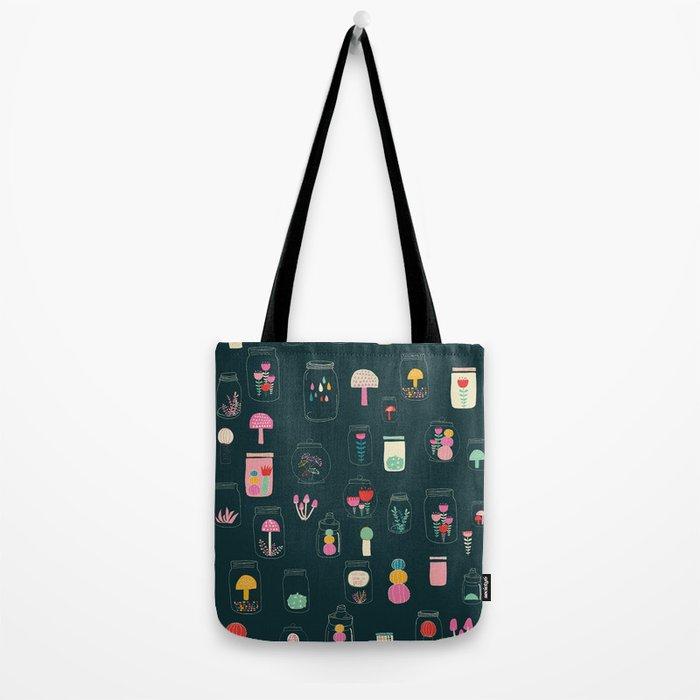 Happy terrarium pattern Tote Bag