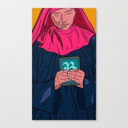 Mobible Nun Canvas Print