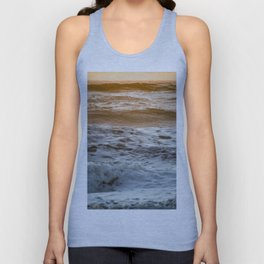 Coral Ocean Sunset Unisex Tank Top