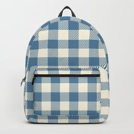 gingham_blue and cream Backpack