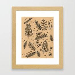 Kraft Paper Pine Framed Art Print
