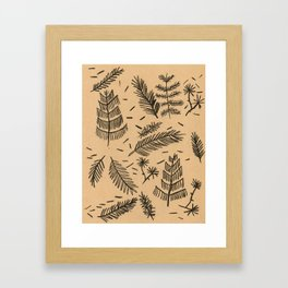 Kraft Paper Pine Framed Art Print