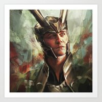 prince Art Prints featuring The Prince of Asgard by Alice X. Zhang