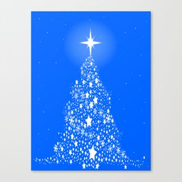 Star Spangled Snowflake Christmas Tree Canvas Print