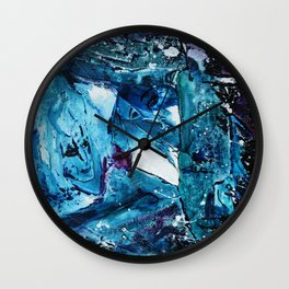 Faces in blue Wall Clock