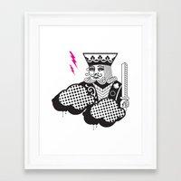 poker Framed Art Prints featuring Poker Toys by elRAiSE