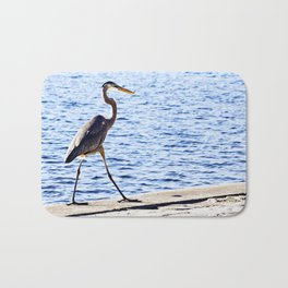 Blue Heron Strut Bath Mat