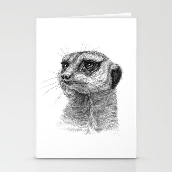 Meerkat-portrait G035 Stationery Cards