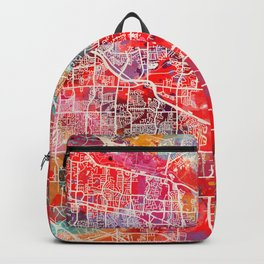 Germantown map Tennessee TN 2 Backpack
