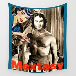 """PLEASE TOUCH THE """"MEXICAN"""" {RICARDO MONTALBAN, EDITION} Wall Tapestry"""