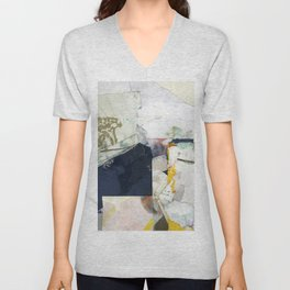 White Landscape from an Aerial View Unisex V-Neck