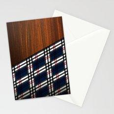 Wooden Scottish Tartan Stationery Cards
