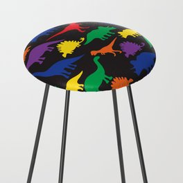 Dinosaurs - Black Counter Stool
