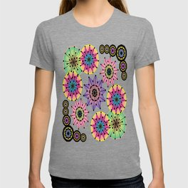 Vibrant Abstract Floral Pattern T-shirt