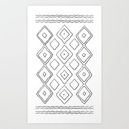 Beni Ourain moroccan print Art Print