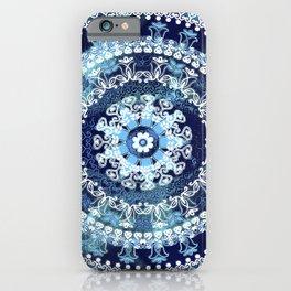Marina Blue Mandala iPhone Case