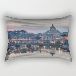 Saint Peter's Basilica at Sunset Rectangular Pillow