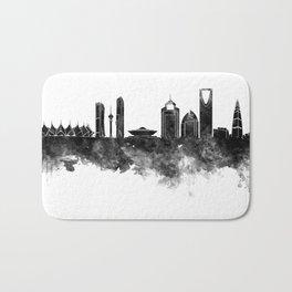 Riyadh skyline in black watercolour  Bath Mat