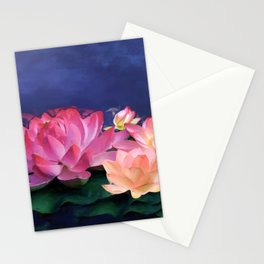 The Purity of Lotus Stationery Cards
